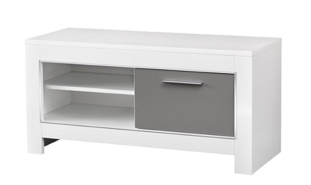 meuble tv pm modena laquee blanc grise