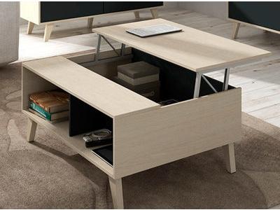 Table Basse Relevable Gozo Blanc Brillant
