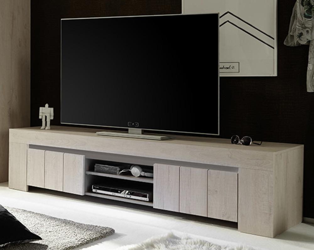 meuble tv gm catania chene blanchi