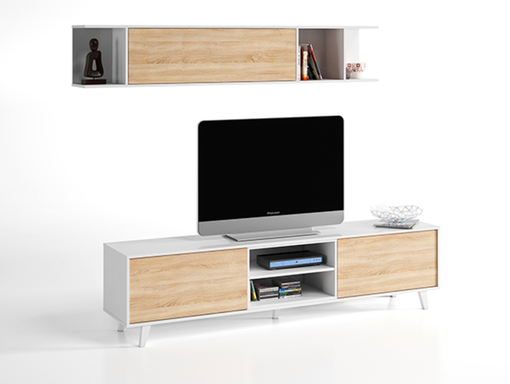 meuble tv etagere murale domino plus