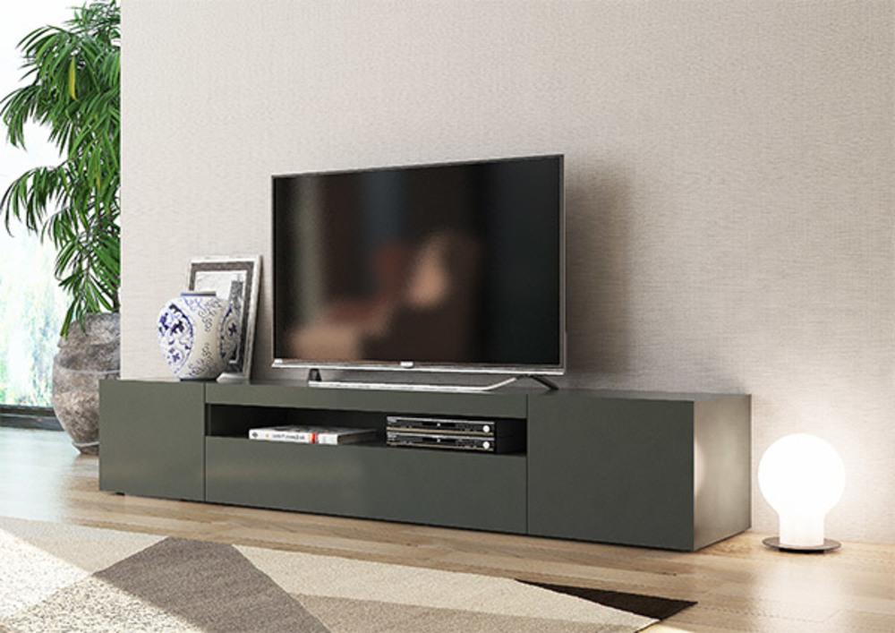 meuble tv gm daiquiri gris anthracite brillant