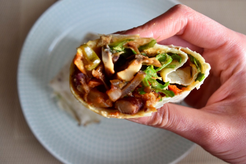 Healthy vegan breakfast burrito recipe