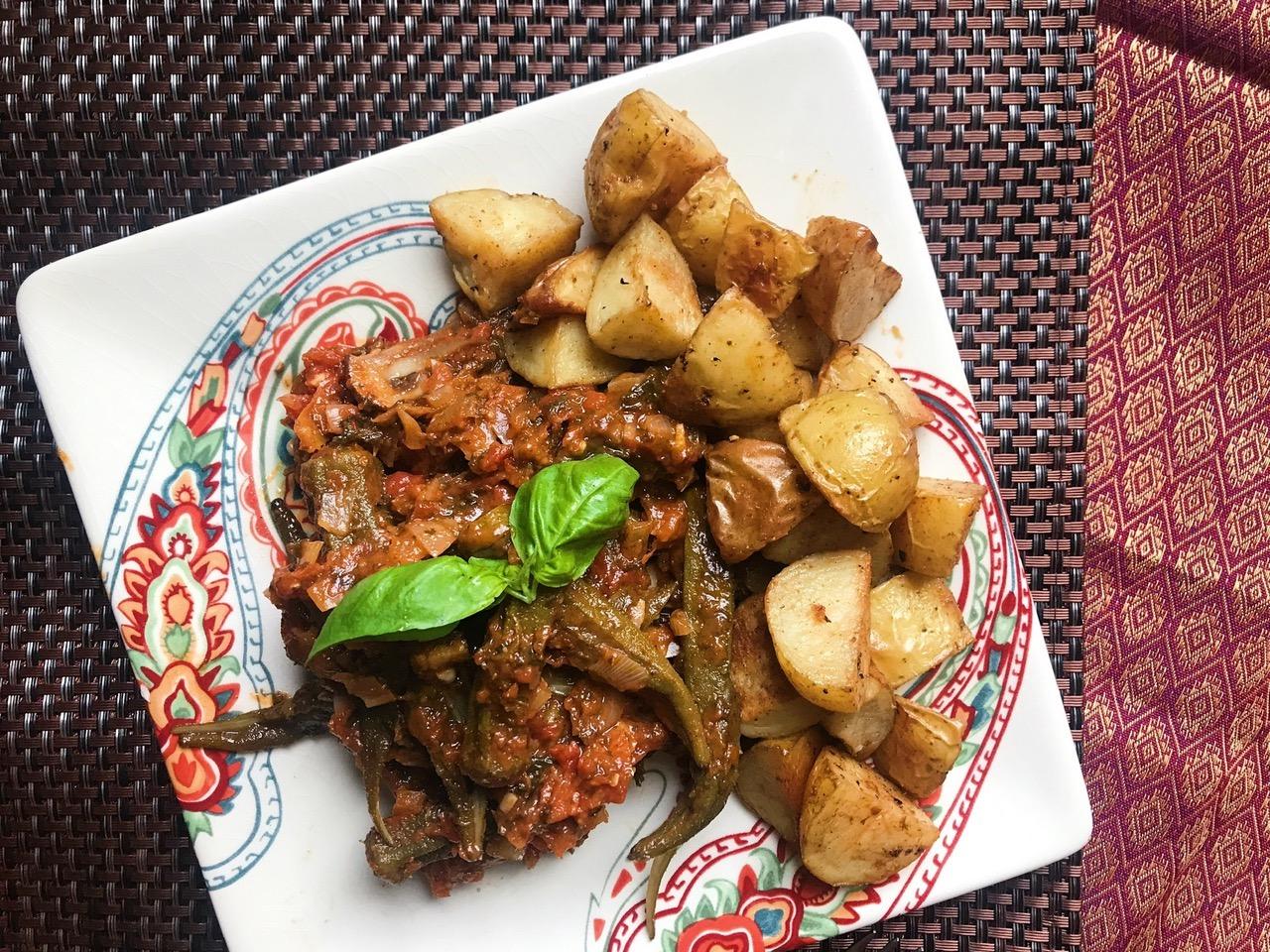 Greek Okra Stew (Bamia)