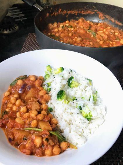 chickpea tandoori curry recipe
