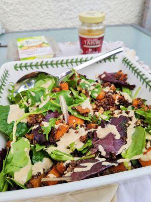 Butternut squash and lentil salad (Ve)
