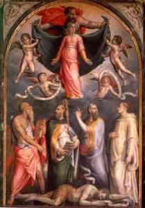 Disputa sulla Immacolata Concezione, Pierfrancesco di Jacopo Foschi, Cappella Torrigiani in Santo Spirito