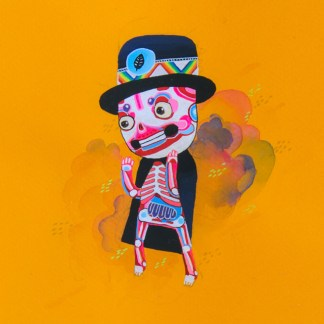 BAS Illustration gallery Orange Skeleton