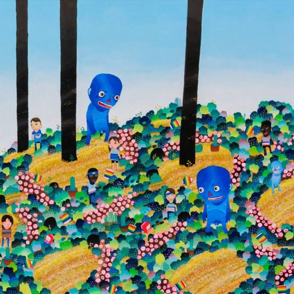 BAS Illustration original art: Blue Sky Collection Print 1