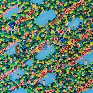 "BAS Illustration original art: Forest Big Guy 24"" x 36""Collection Print 1"