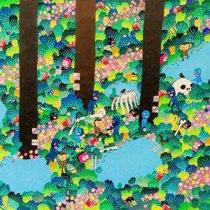 BAS Illustration original art: Forest Collection Print 2