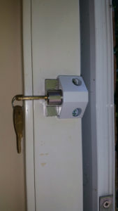 Patio door locking bolts fitted to aluminium doors
