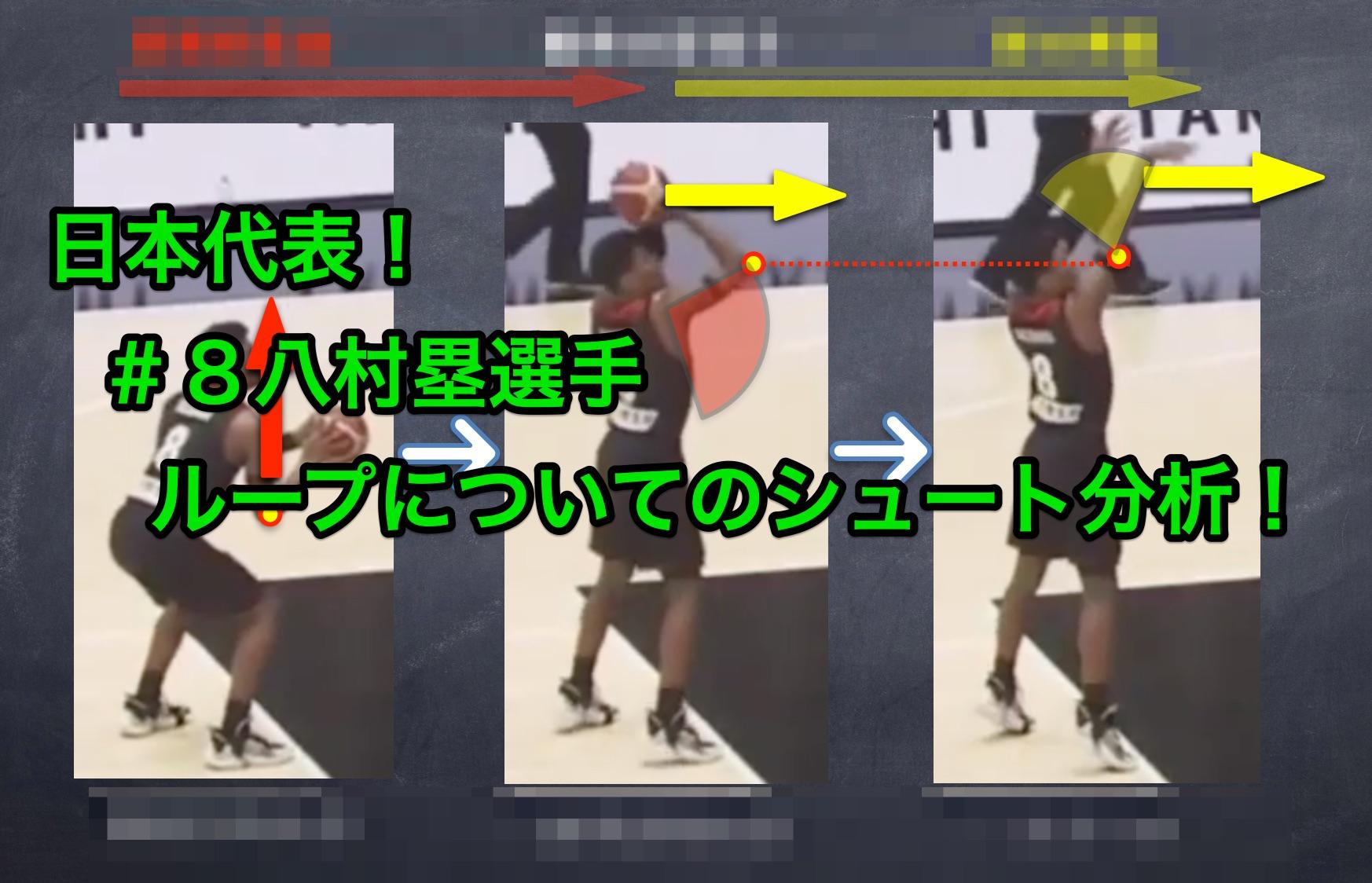 バスケ日本代表!#8八村塁選手のシュート分析! ループと動作の関係性