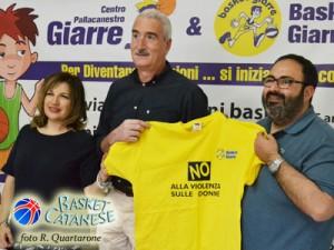 L'assessore Bonaccorsi, coach Borzì e il presidente Spada (foto R. Quartarone)