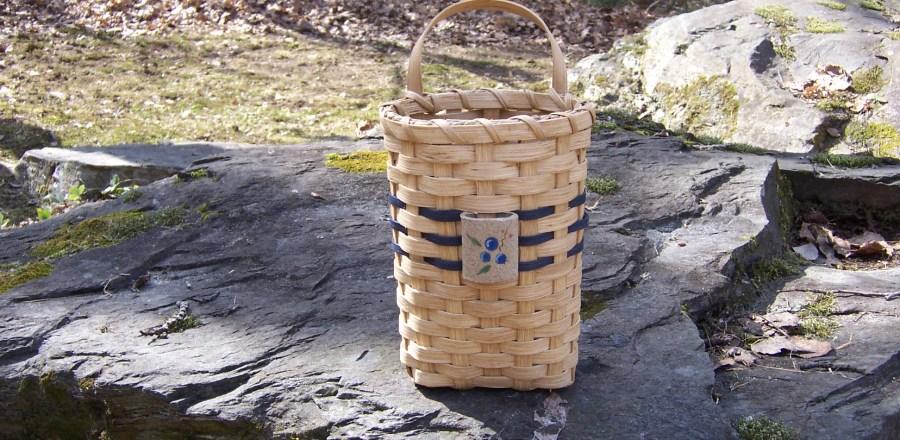 Blueberry Wall Basket