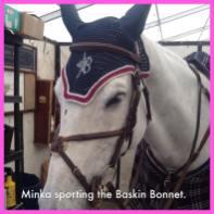 Minka sporting the Baskin Bonnet.