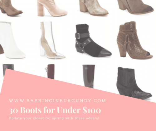30 Boots for Spring Under $100