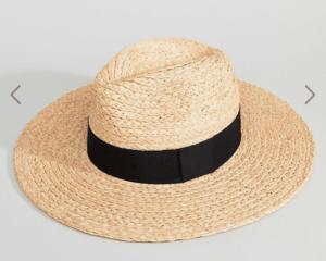 Raffia Hat Basking in Burgundy