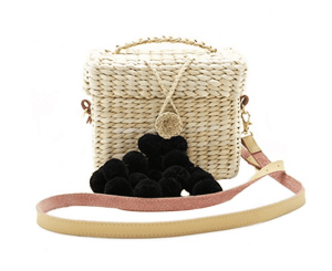 Amazon Straw Bag Basking in Burgundy