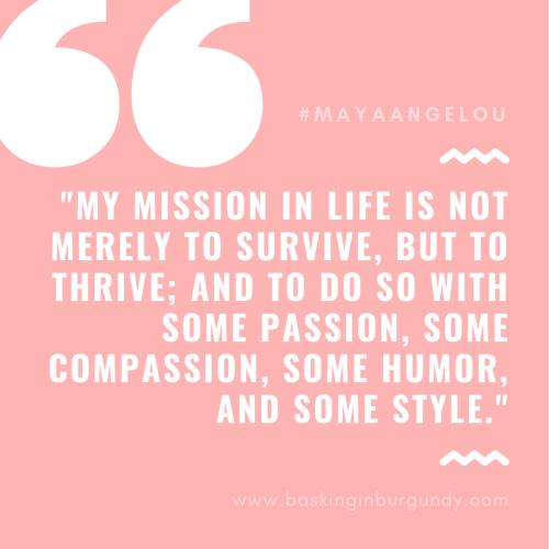 Maya Angelou Basking in Burgundy