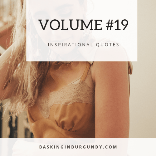 Volume 19 Basking in Burgundy