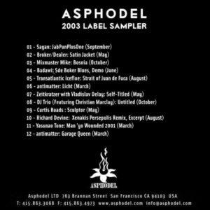 Asphodel 2003 Label Sampler