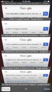 Drake's search history