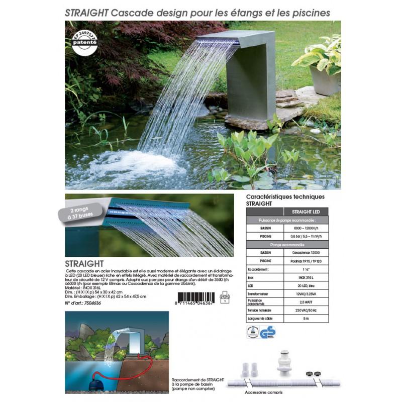 lame d eau straight ubbink cascade