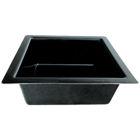 bac polyester carre pour bassin et fontaine