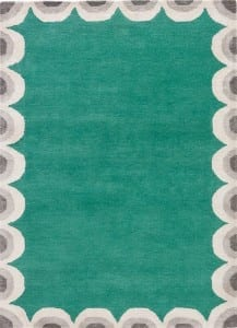 Kate Spade NY Home for Jaipur Living Gramercy Green Scallop Edge Rug GKN32