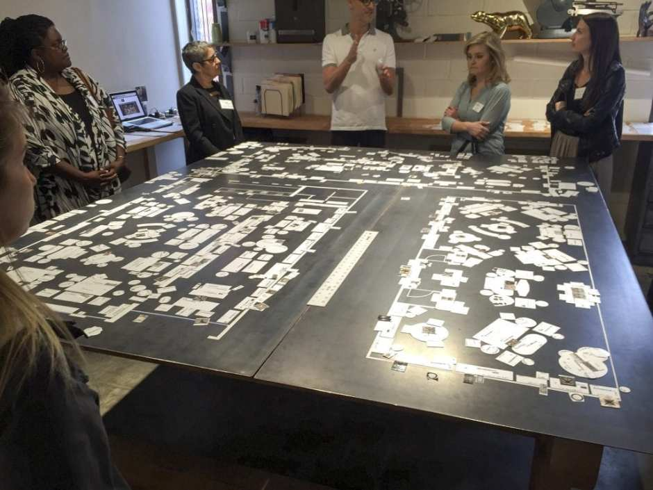 Noir Furniture Open House Tour LA May 2016 Market Planning Showroom Layout