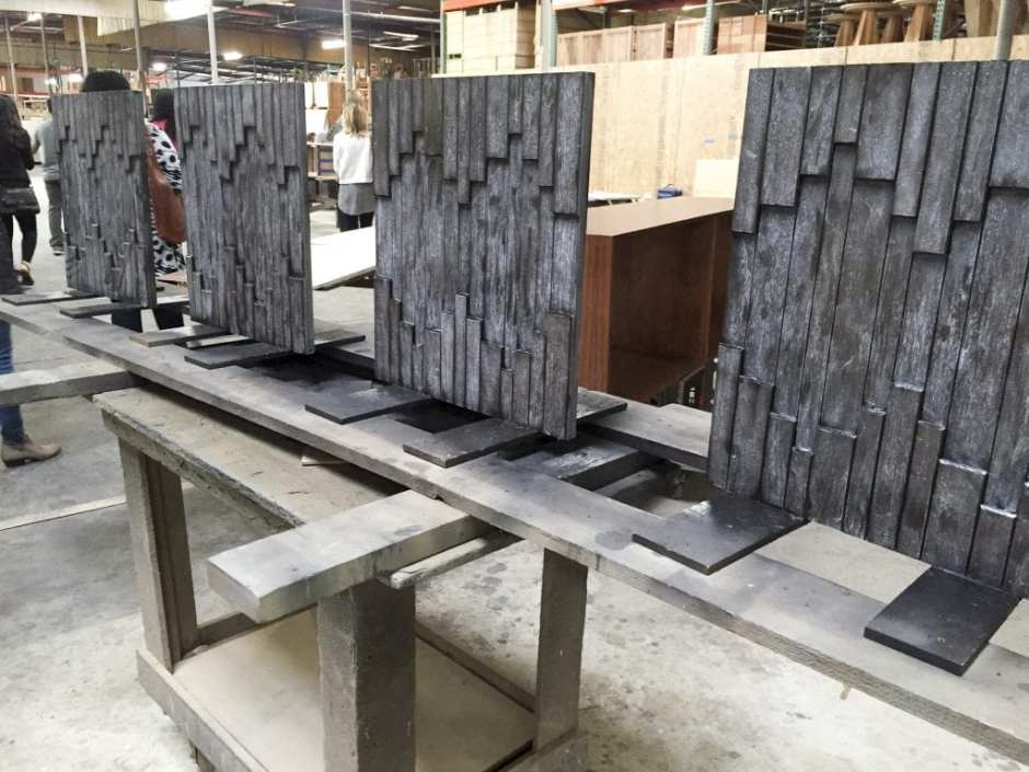 CFC Furniture Open House Tour LA May 2016 wood drying