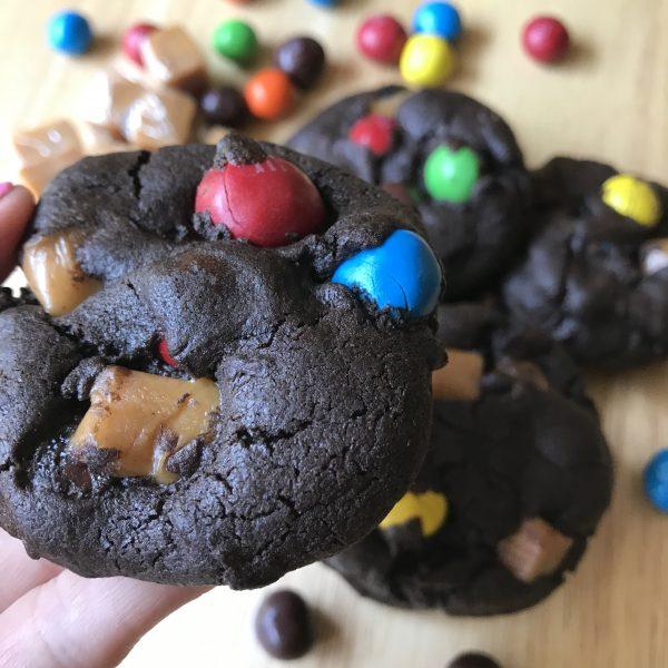 Caramel M&M Cookies