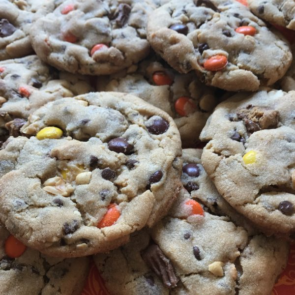 Oversized Quadruple Peanut Butter Cookies