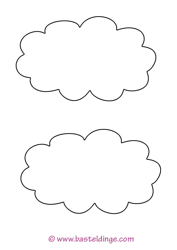 Verschiedene Wolken Vorlagen Basteldinge