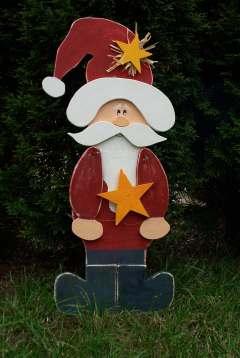 Weihnachtsmann Mit Stern Bastelfrau