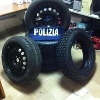Ruba pneumatici a Bastia Umbra, albanese denunciato dalla Polizia di Assisi