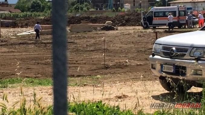 Incidente a Bastia, al cantiere della chiesa, operaio trasportato in ospedale