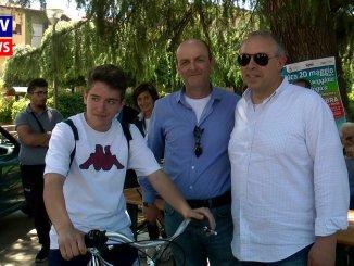 Passeggiata in bicicletta, Alessio Venarucci vince il primo premio
