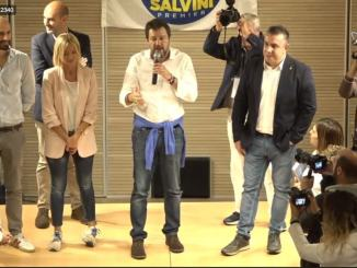 Matteo Salvini a Bastia Umbra, la diretta all'Auditorium Sant'Angelo