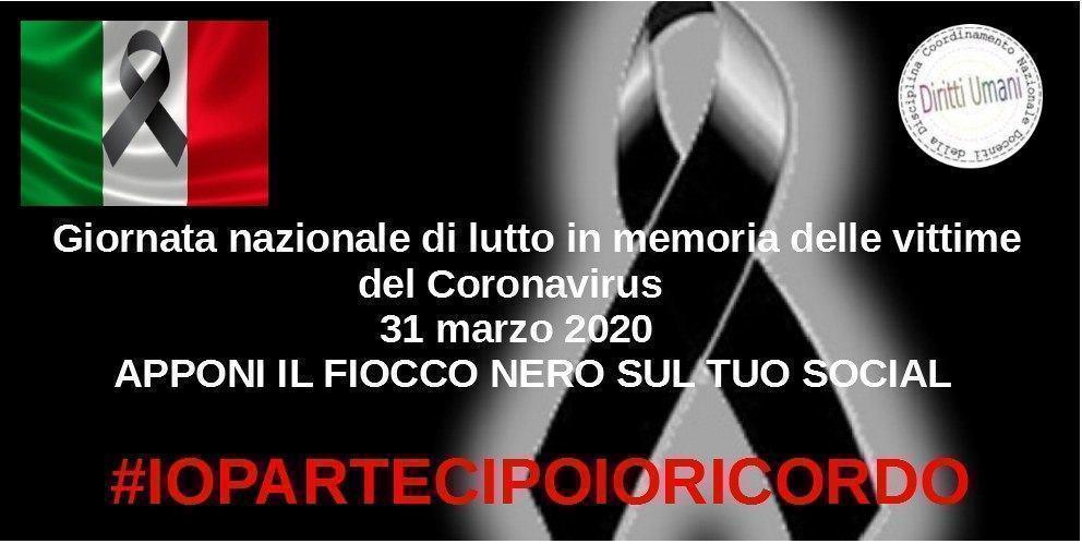 Covid-19, segno di solidarietà per tutte le vittime in Italia