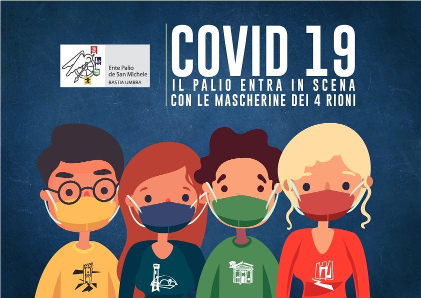 Lotta al Covid19, Ente Palio realizza mascherine con colori Rioni