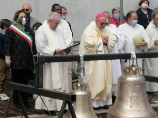 Benedizione delle campane alla chiesa di San Marco, presente il Sindaco