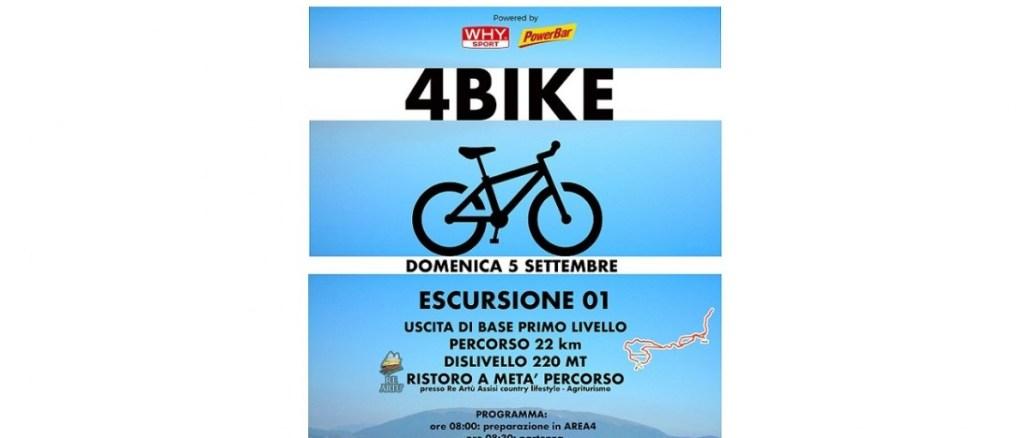 4Bike, il 5 settembre escursione mountain bike da Bastia Umbra al Subasio