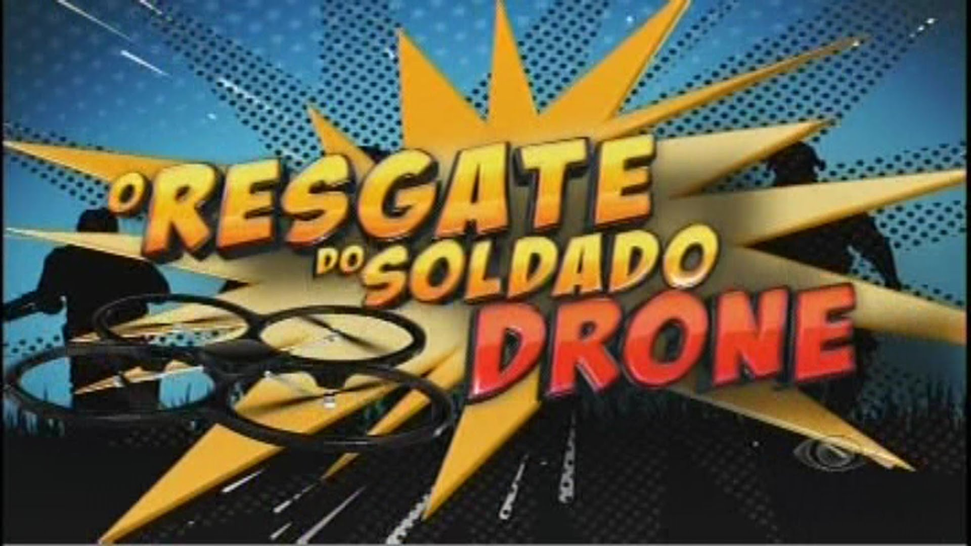 Quadro do programa Pânico na TV onde eles tentam reaver o drone caido na Rede Record - Imagem retirada do site Bastidores da TV