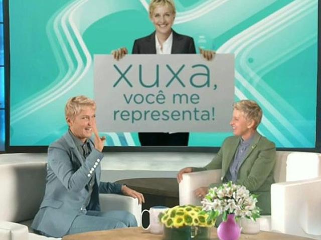 Xuxa se inspira no visual da apresentadora americana Ellen Degeneres. (Foto: Reprodução)