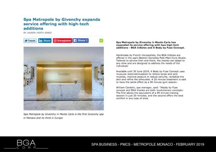 SPA BUSINESS - PMCS - METROPOLE MONACO