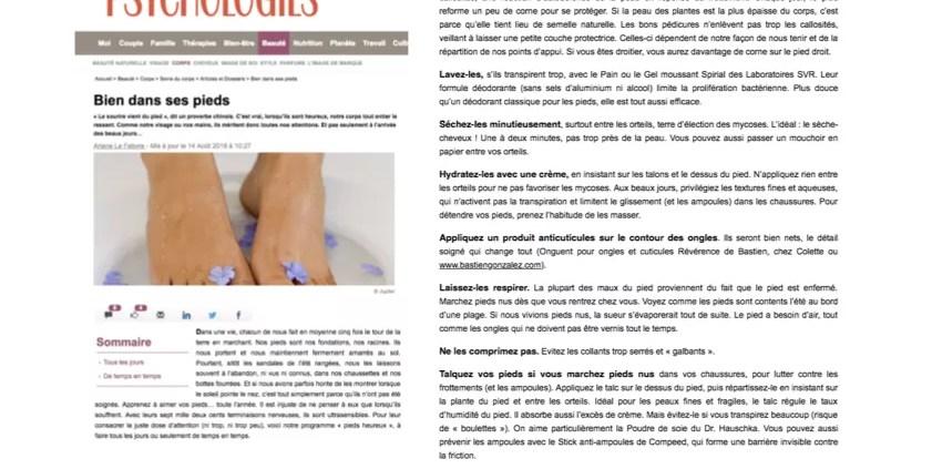 PSYCHOLOGIES.COM - REVERENCE DE BASTIEN