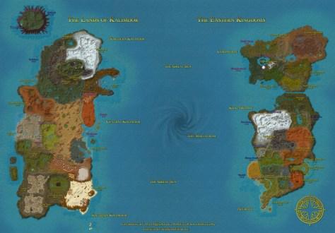 World of Warcraft Azeroth World Map