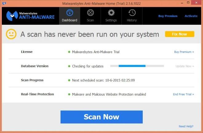 malware bytes update