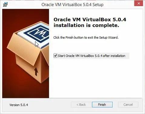 VM installation is complete